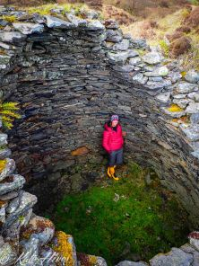 Standing in the ruins of a monastic Beehive Cell on Eileach an Naoimh (The Garvellachs). Amazing that they have endured for 1500 years!!!