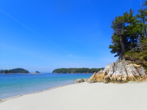 White sand beaches or Northern Calvert Island