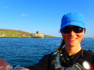 Scottish Castle and me in Castle Bay