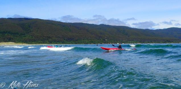Tamara choosing her waves